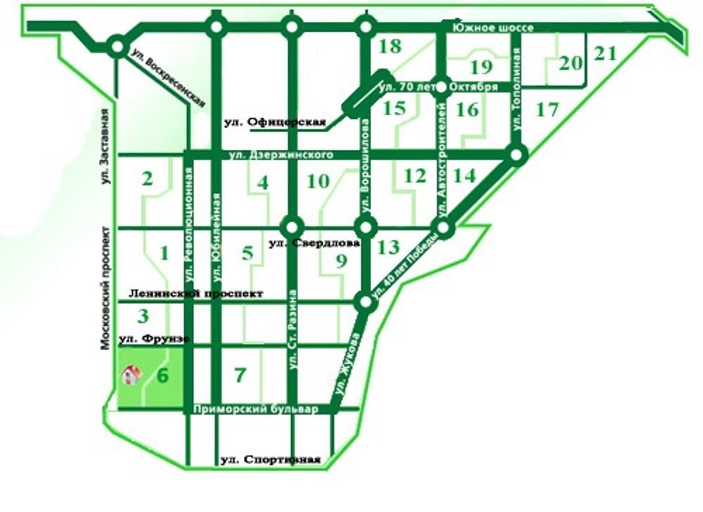 Карта Тольятти Автозаводской Район 17 Квартал